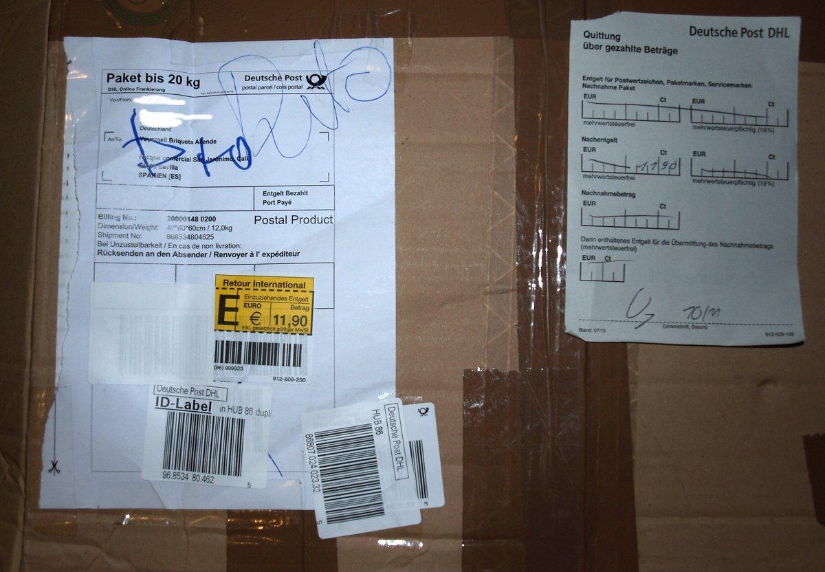 was nicht pa t wird passend gemacht oder dhl erlaubt bei paketen nach spanien leider keine. Black Bedroom Furniture Sets. Home Design Ideas